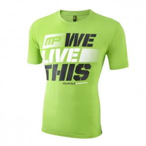Musclepharm 'We Live This' T-Shirt